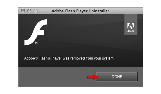 Uninstall Adobe Flash Player Mac