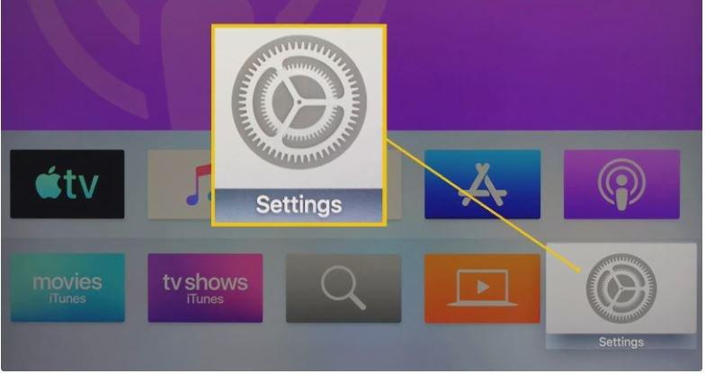 Settings in Apple TV