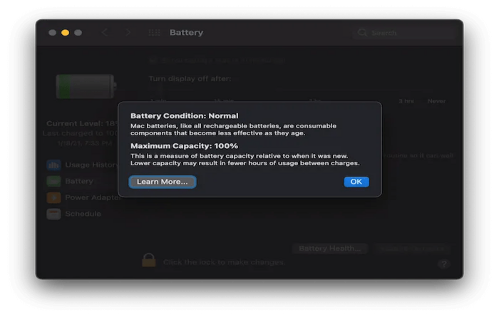 battery condition