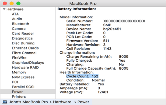 macbook pro info